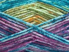 Jeans vlna - zelenotyrkysovozlatofuchsiovopurpurová