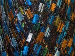 Ladder - modrozelenohnědozlatá