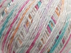 Letní mercerovaná bavlna - bílorůžovofialovošedá