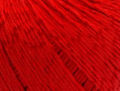 Letní mercerovaná bavlna - červená