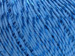 Letní mercerovaná bavlna - modrá