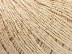 Letní mercerovaná bavlna - tmavě krémová