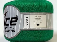 Lněná příze - zelená