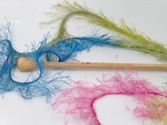 Long Eylash colorful - modrozelenožlutorůžová