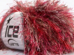 Long Eylash colorful - purpurovočervenohnědobílá