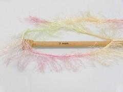 Long Eylash colorful - růžovozelenožlutokrémová
