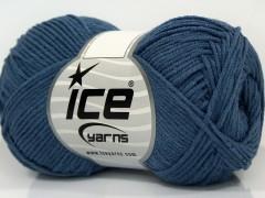 Lorena bambus - jeansově modrá