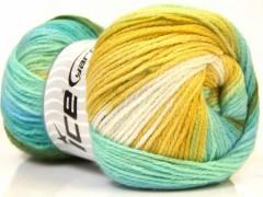 Magic light - zelenomodrobílotyrkysová