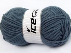 Merino chunky - kouřově modrá