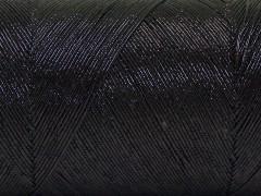 Metalická bavlna - černá