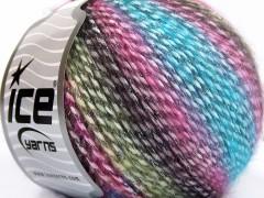 Mirella - tyrkysovorůžovofialovozelenokaštanová