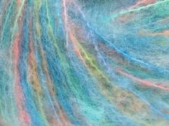 Mohér color light - modrosvětlezelnolososová