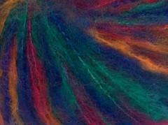 Mohér color light - tmavěmodrozelenooranžová