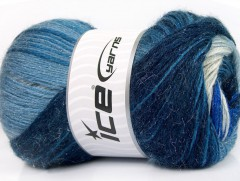 Mohér magic glitz - modré odstíny