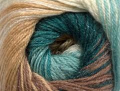 Mohér magic glitz - modrozelenokrémová