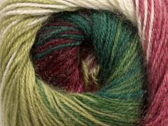 Mohér magic glitz - zelenovínovobílá