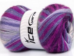 Mohér magic - purpurovolevandulovofialovofuchsiová