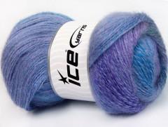 Mohér pastel - fialovopurpurovomodra