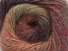 Mohér pastel - kaštanovohnědočervenokhaki