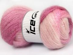 Mohér pastel - růžové odstíny