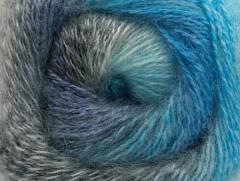 Mohér pastel - šedotyrkysovomodrá