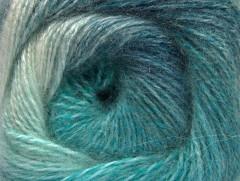 Mohér pastel - tyrkysové odstíny