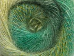 Mohér pastel - zelené odstíny