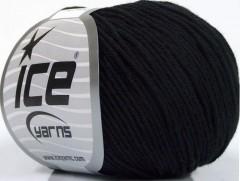 Organická dětská bavlna - černá