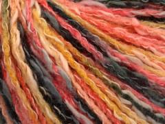 Pastelová bavlna - lososovožlutočerná