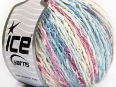 Pastelová bavlna - modroorchideovobílá