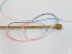 Pastelová bavlna - růžovomodrofialová