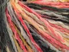 Pastelová bavlna - růžovošedožlutá