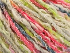 Pastelová bavlna - zelenofuchsiovošedá