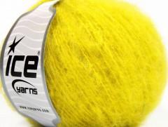 Piumotto mohér - neonově žlutá