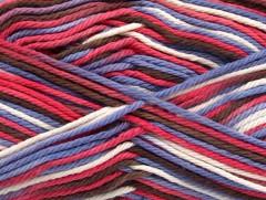 Plaid bavlna - fialovohnědobílohnědá
