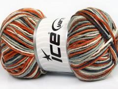Plaid bavlna - měděnošedobéžová