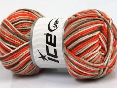 Plaid bavlna - oranžovohnědokrémová