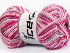 Plaid bavlna - růžovošedobílá