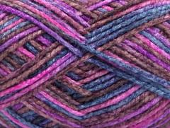 Portofino - růžovopurpurovomodrokaštanová