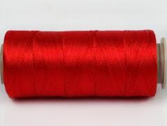 Připlétací příze /vyšívací/ - červená