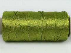 Připlétací příze /vyšívací/ - lesní zelená