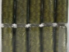 Připlétací příze /vyšívací/ - olivovo zelená