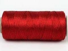 Připlétací příze /vyšívací/ - tmavě červená