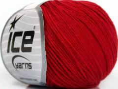 Přírodní baby bavlna - červená