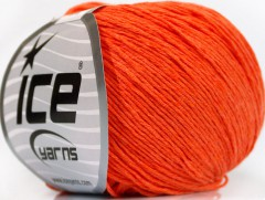 Přírodní baby bavlna - oranžová
