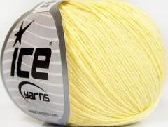 Přírodní baby bavlna - světle žlutá