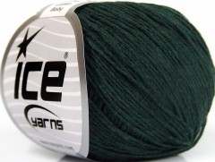 Přírodní baby bavlna - tmavě zelená