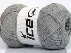 Přírodní bavlna air - šedá 1