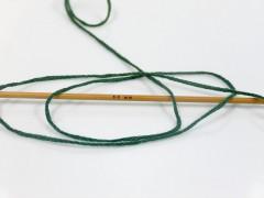 Přírodní bavlna air - tmavě zelená