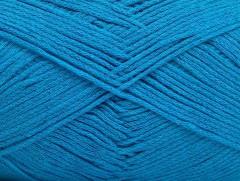 Přírodní bavlna air - tyrkysová